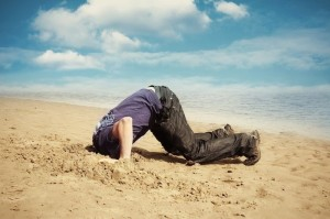 bury head in the sand
